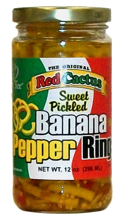 Red Cactus Sweet Pickled Banana Pepper Rings