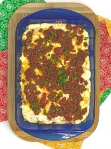 Red Cactus taco lasagna