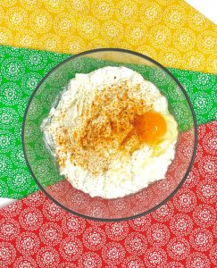 Ricotta, egg and cottage cheese