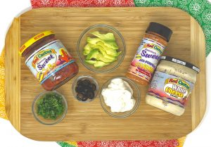 Mexican dish toppings