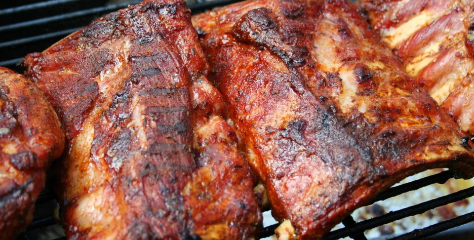 St. Louis-style Ribs with Kansas City style BBQ sauce
